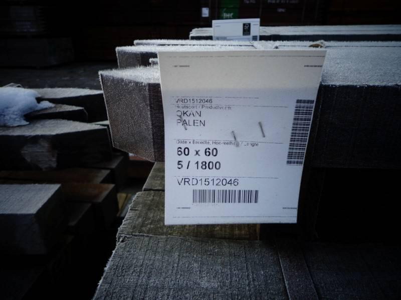 HARDHOUTEN PALEN | Kopmaat: 6x6 cm | Lengtes: 180 cm 2